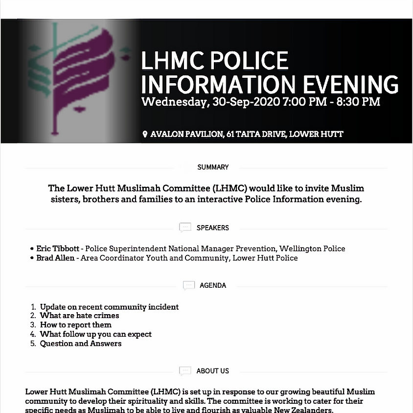 Police Information Evening