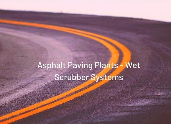 Asphalt Paving Plant - Wet Scrubber Systems
