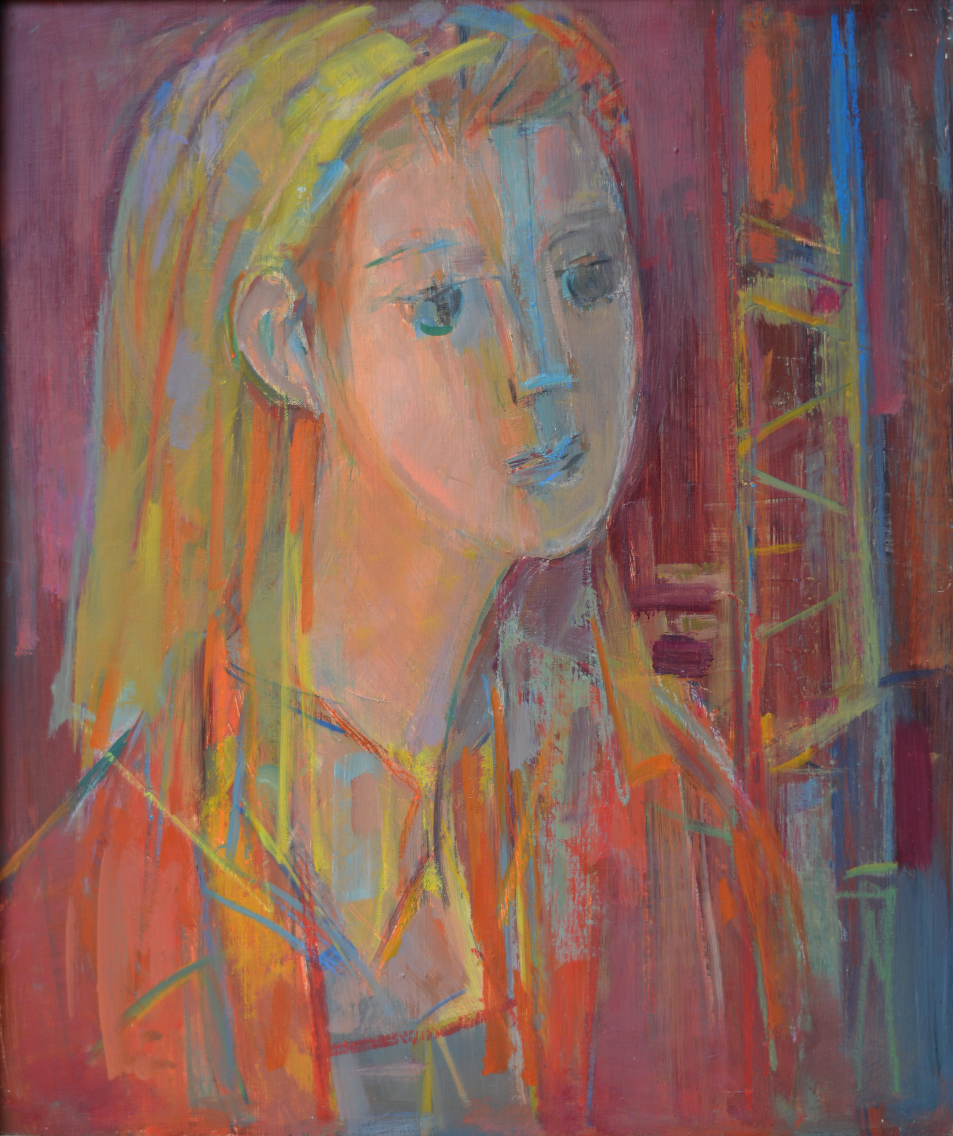 790. Portrait. Huile sur Isorel