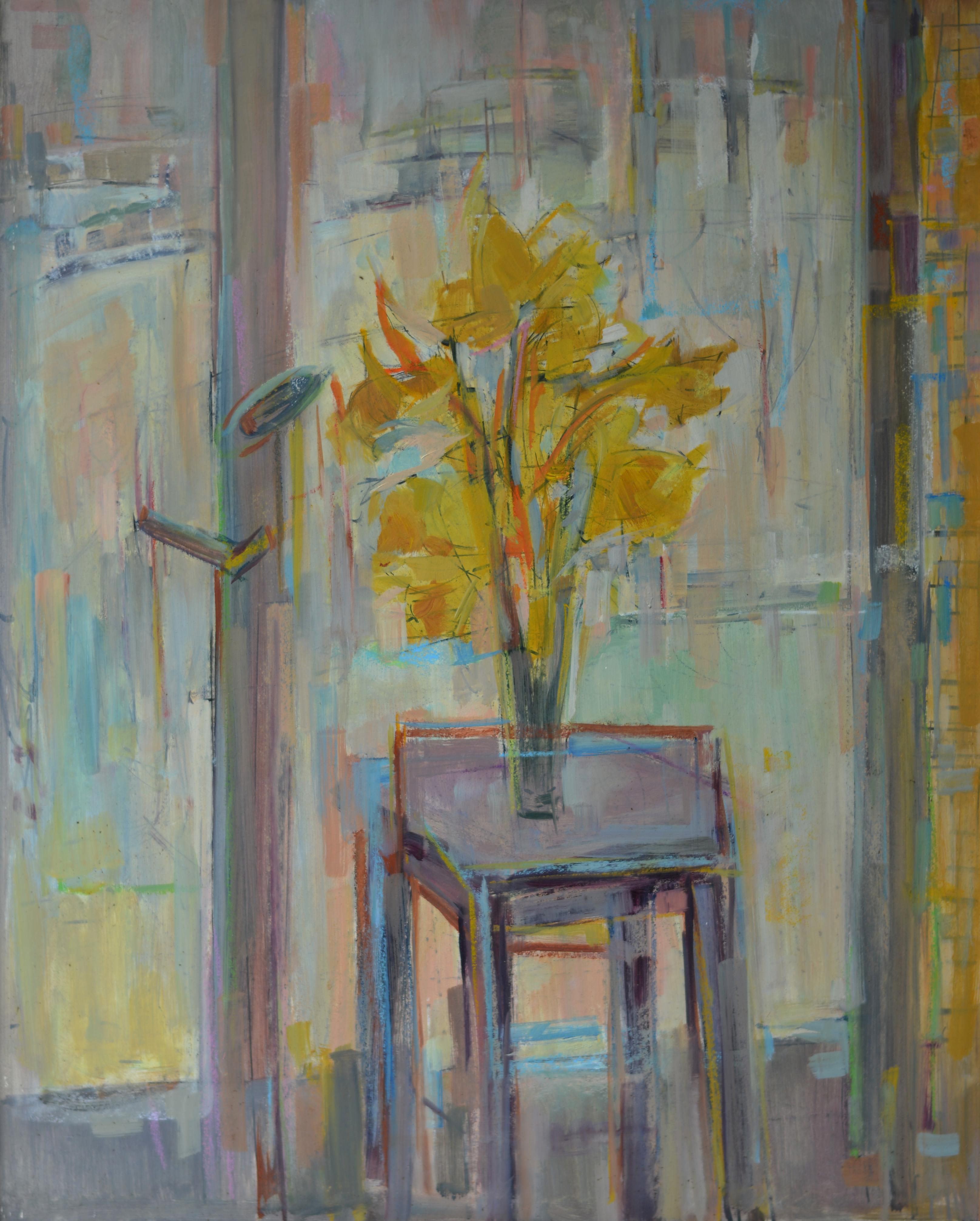 Fleur jaune. Isorel. 781. 81x65
