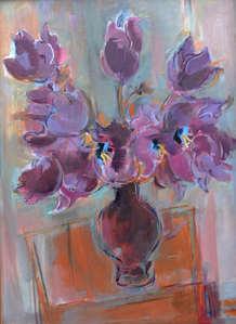 481 C .Tulipes Bleues.