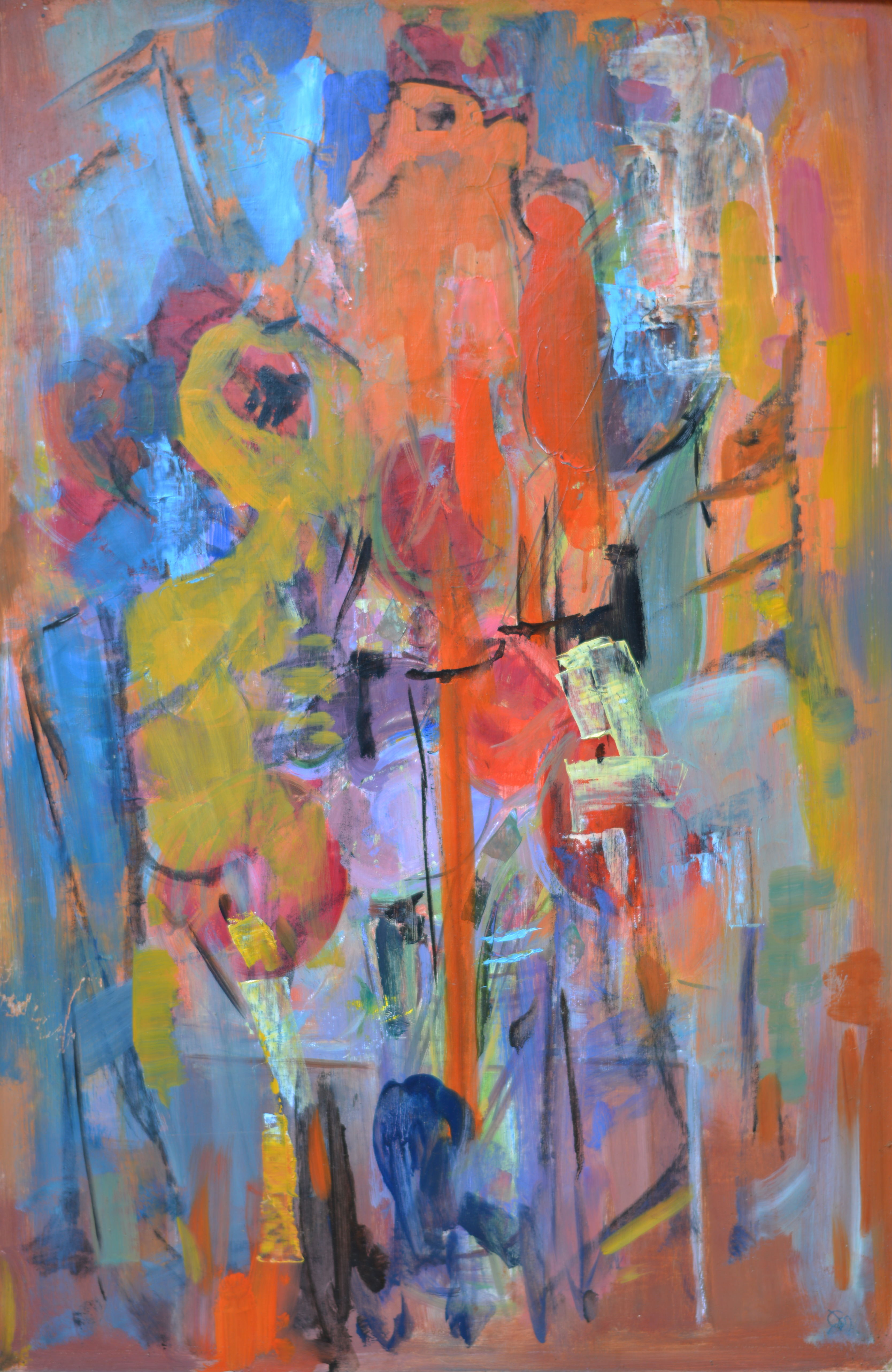 579. Abstraction. Huile sur Isorel