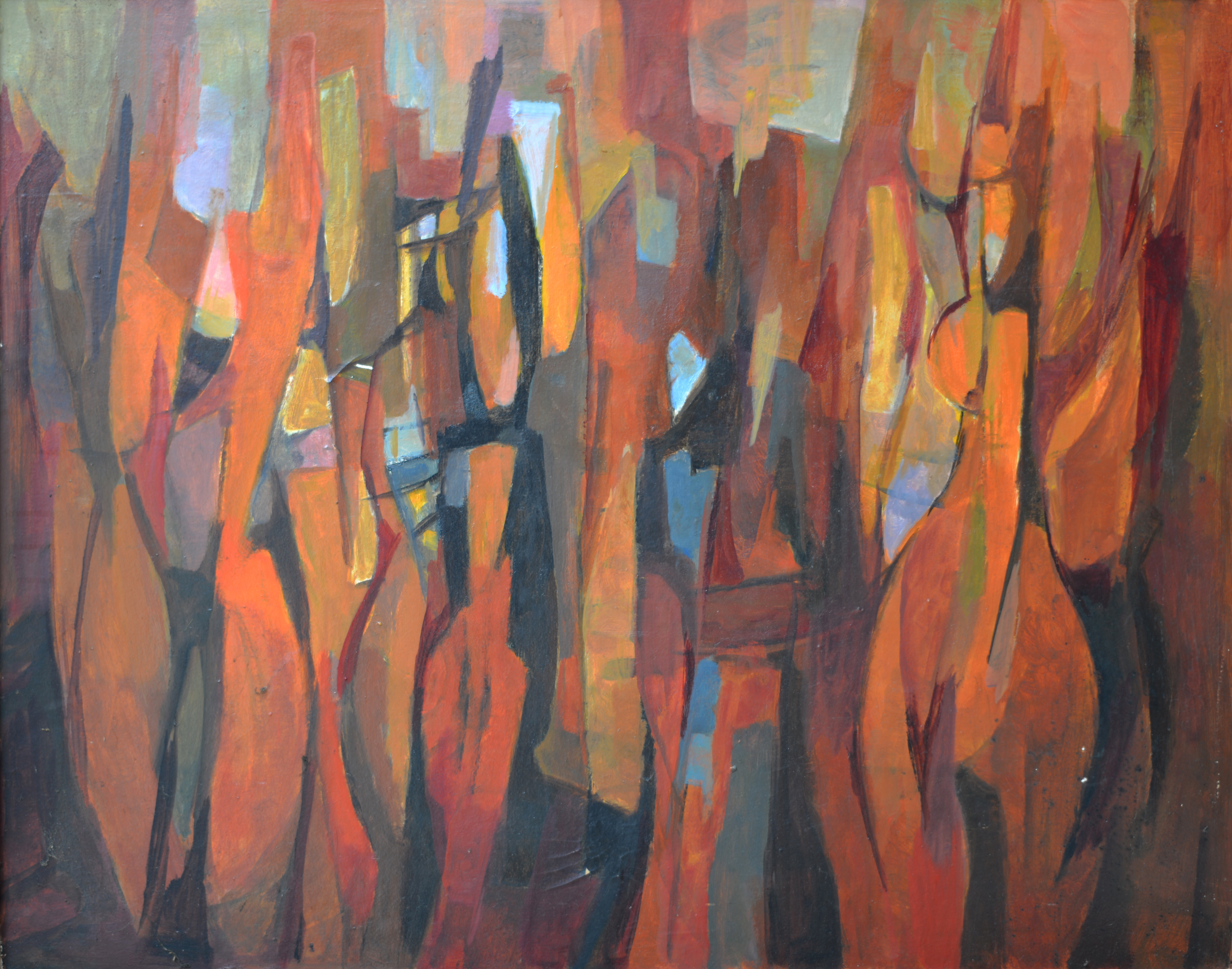 392. Abstraction. Huile sur Isorel