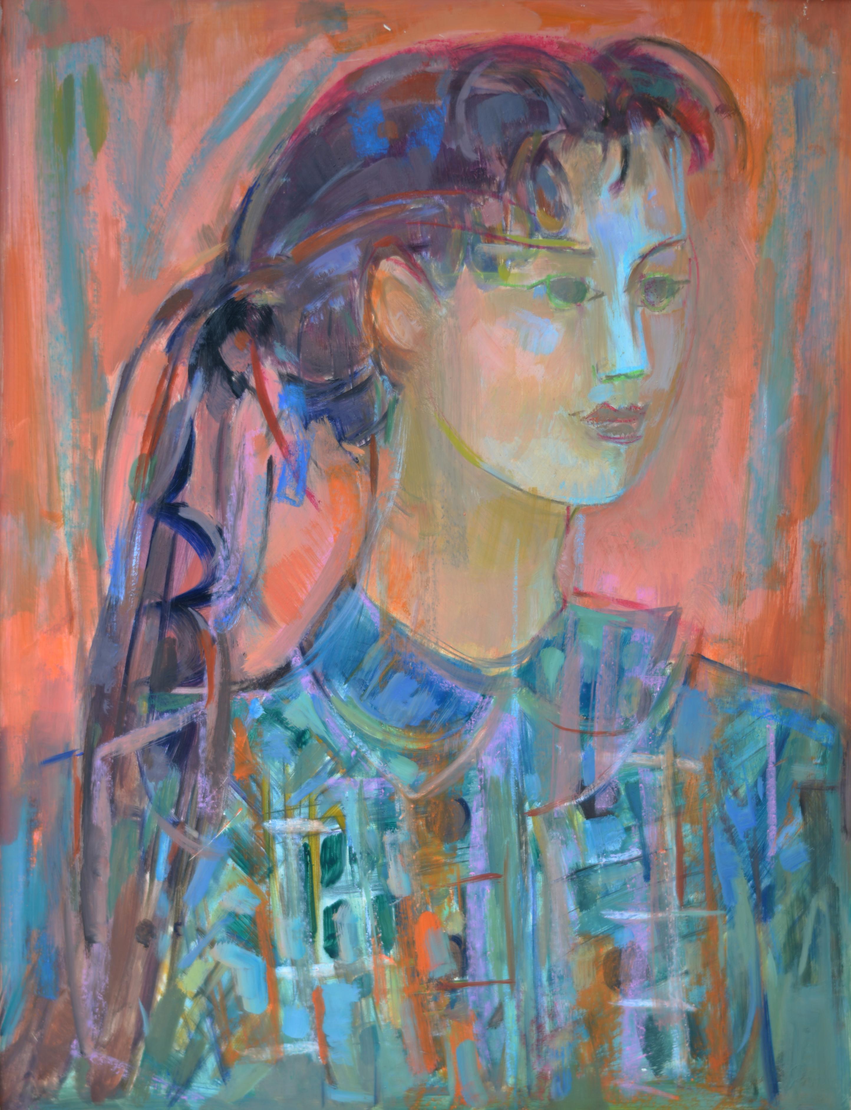 788. Portrait. Huile sur Isorel