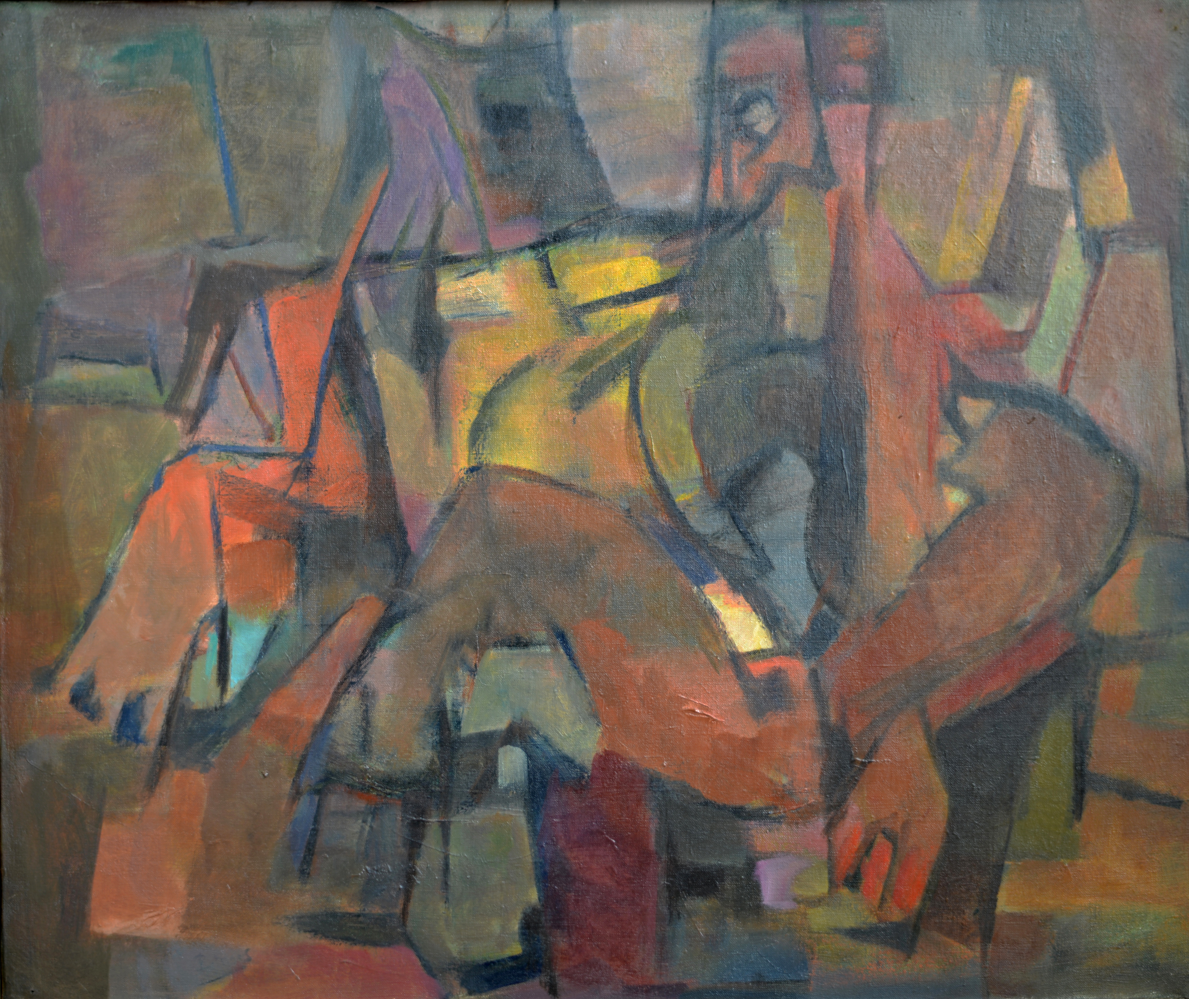 85. Abstraction. Huile sur Isorel