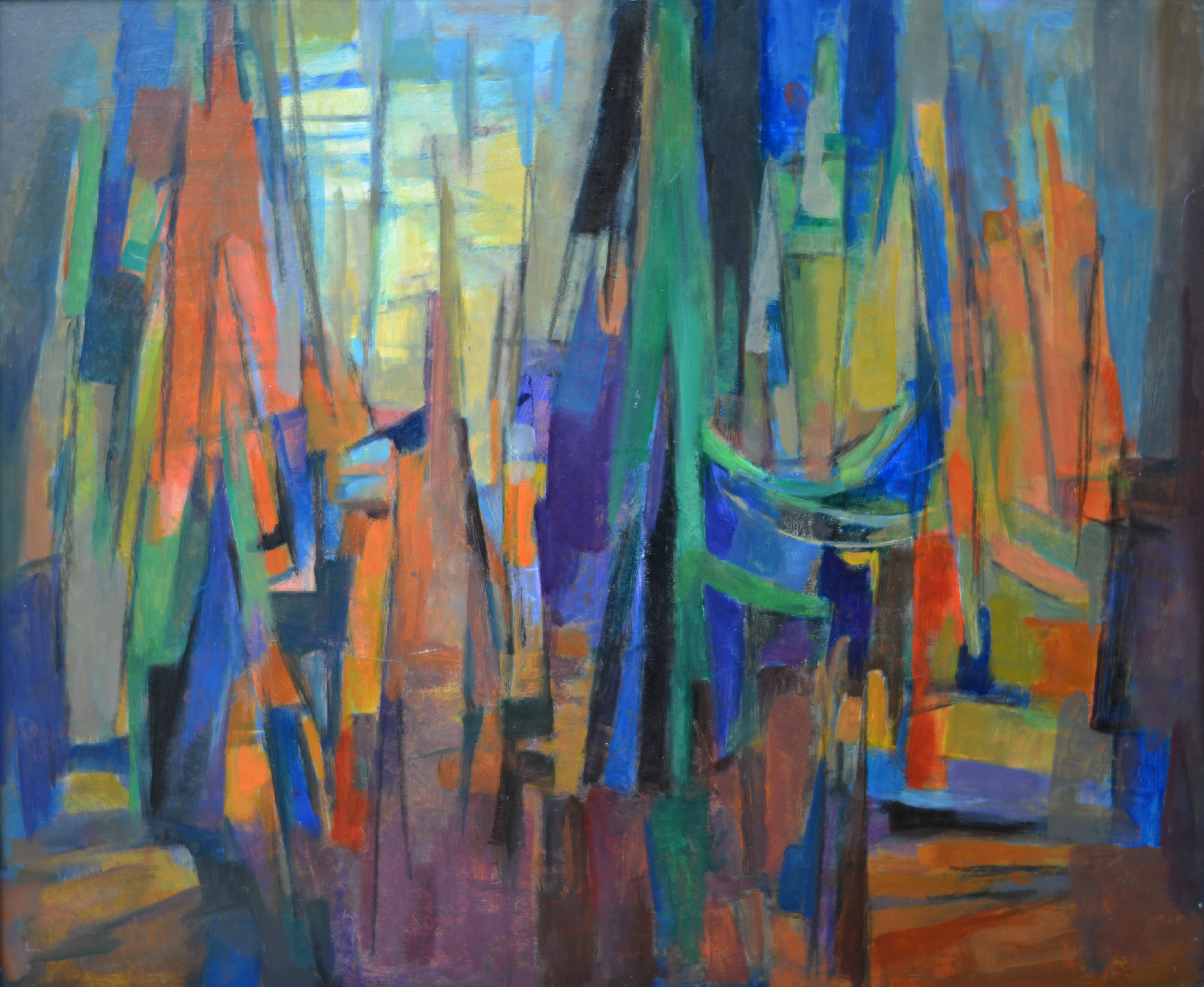 226. Abstraction. Huile sur Isorel
