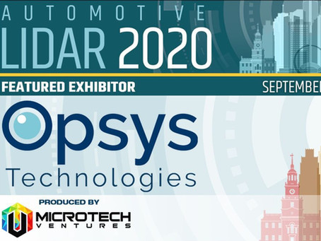 Automotive LiDAR 2020 invited Opsys to host a vehicle-perception discussion