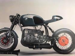 Motorradsattel_schwarzes Leder