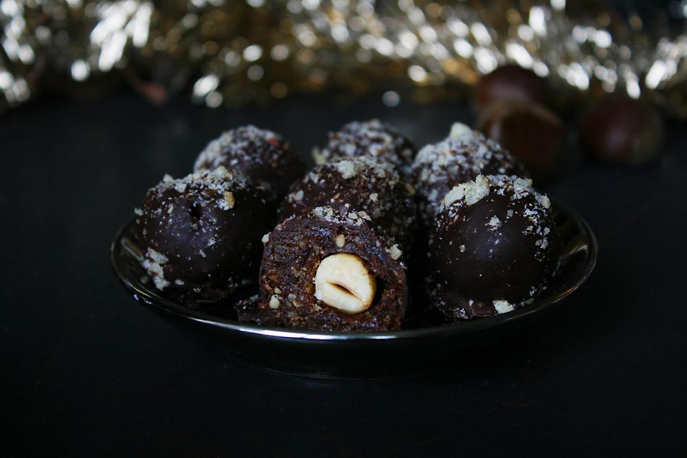 Chocolats avec noisette à l'intérieur