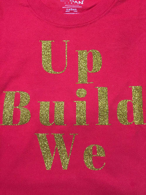 CWA Red We Build Up T-shirt