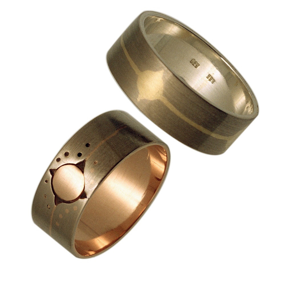 Our Grandfather and Grandmother Dance Together in the Sky wedding rings