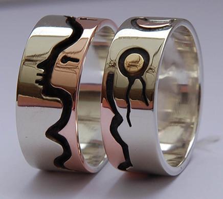 Wedding rings Zaagitooyang-Aki (The Loving Earth)