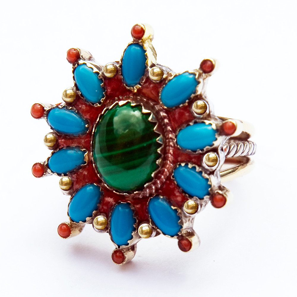 Waaban-anang Ojibwe inspired ladies' ring by Zhaawano Giizhik