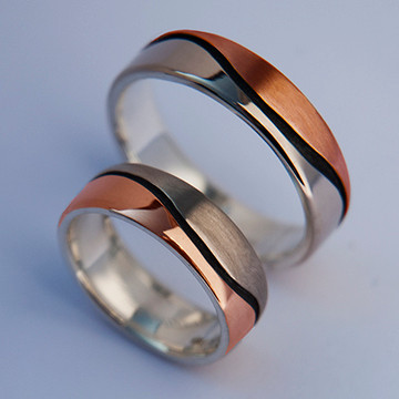 "Wedding rings ""Earth Blood"""