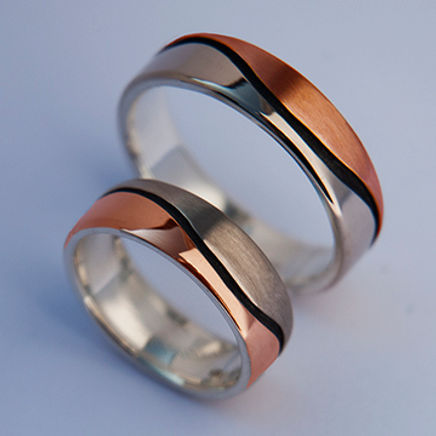 Earth Blood wedding rings