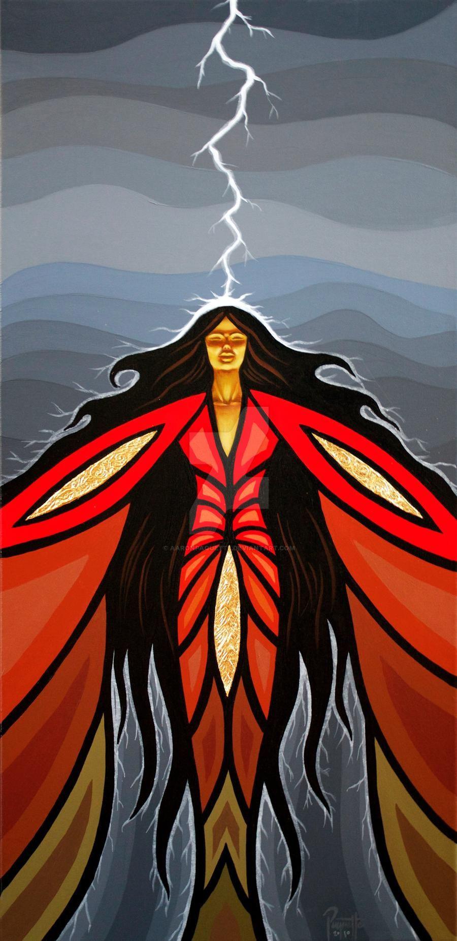 Norval Morrisseau Fire Spirit Thunderbird