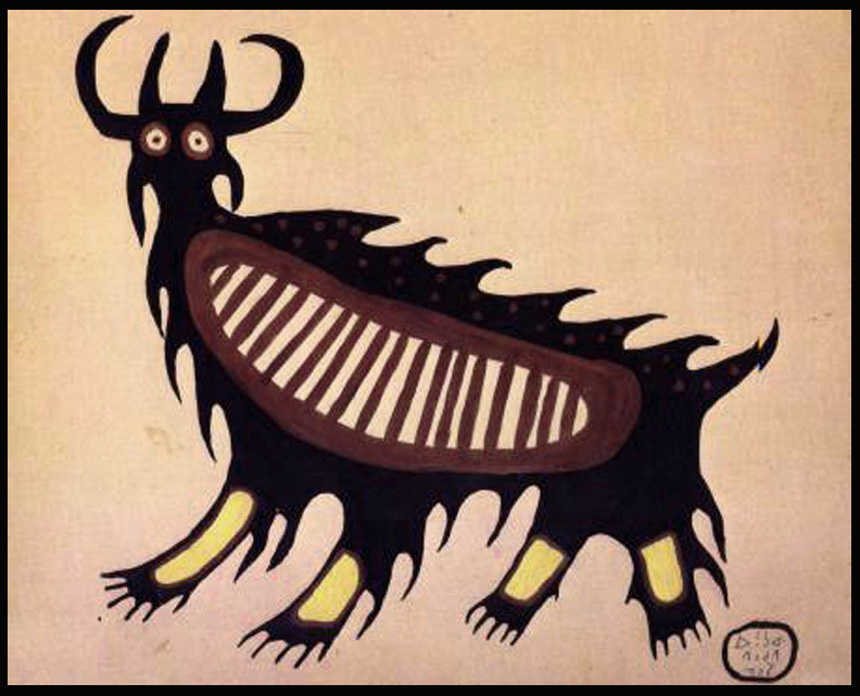 Mishipashoo by Norval Morrisseau 1959