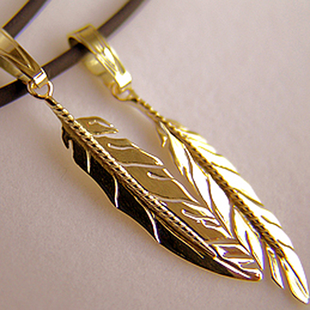 Native American eagle feather pendants-g
