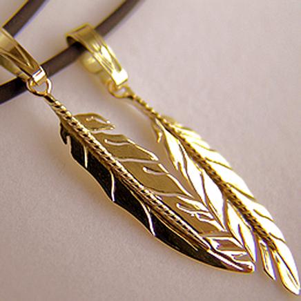 Native American eagle feather pendants-g