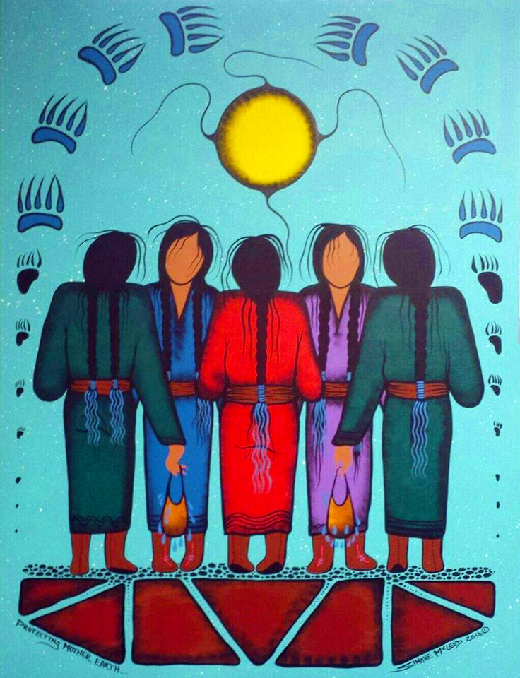 Simone McLeod Mother Earth Water Walkers painting