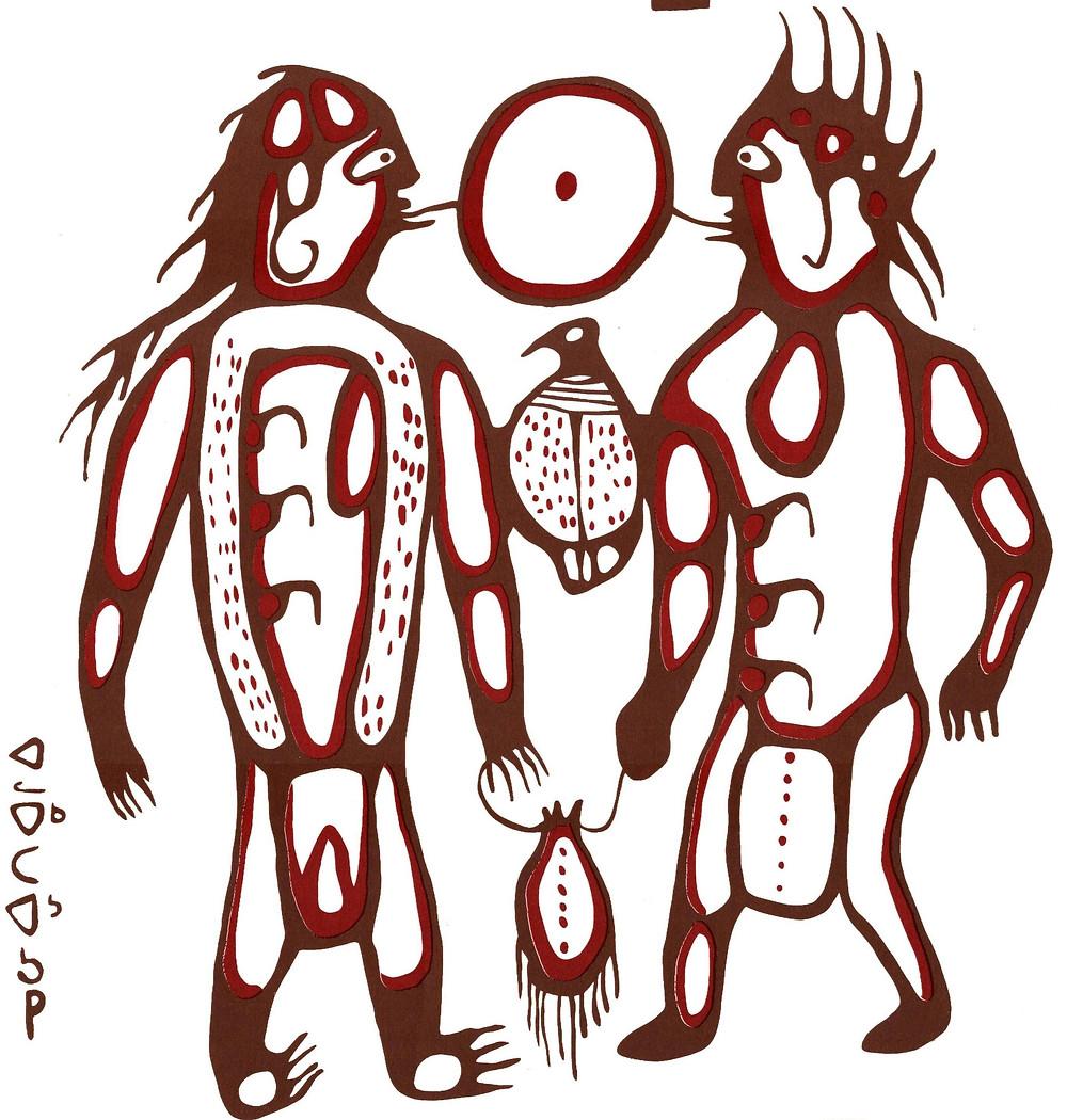 Bemwewe Giniw (Maamawi Bimisiwag) - Sound of the War Eagle / They Fly Together wedding rings
