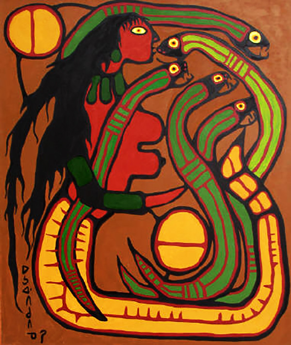 Norval Morrisseau Mother of All Serpents