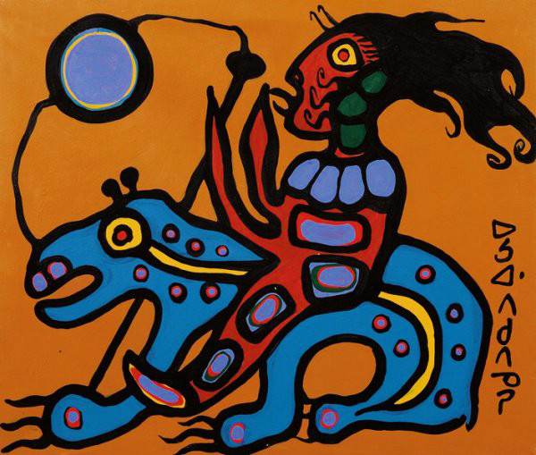 Copper Thunderbird Medine Woman and Bear