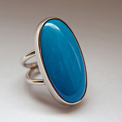 Native American style silver ring
