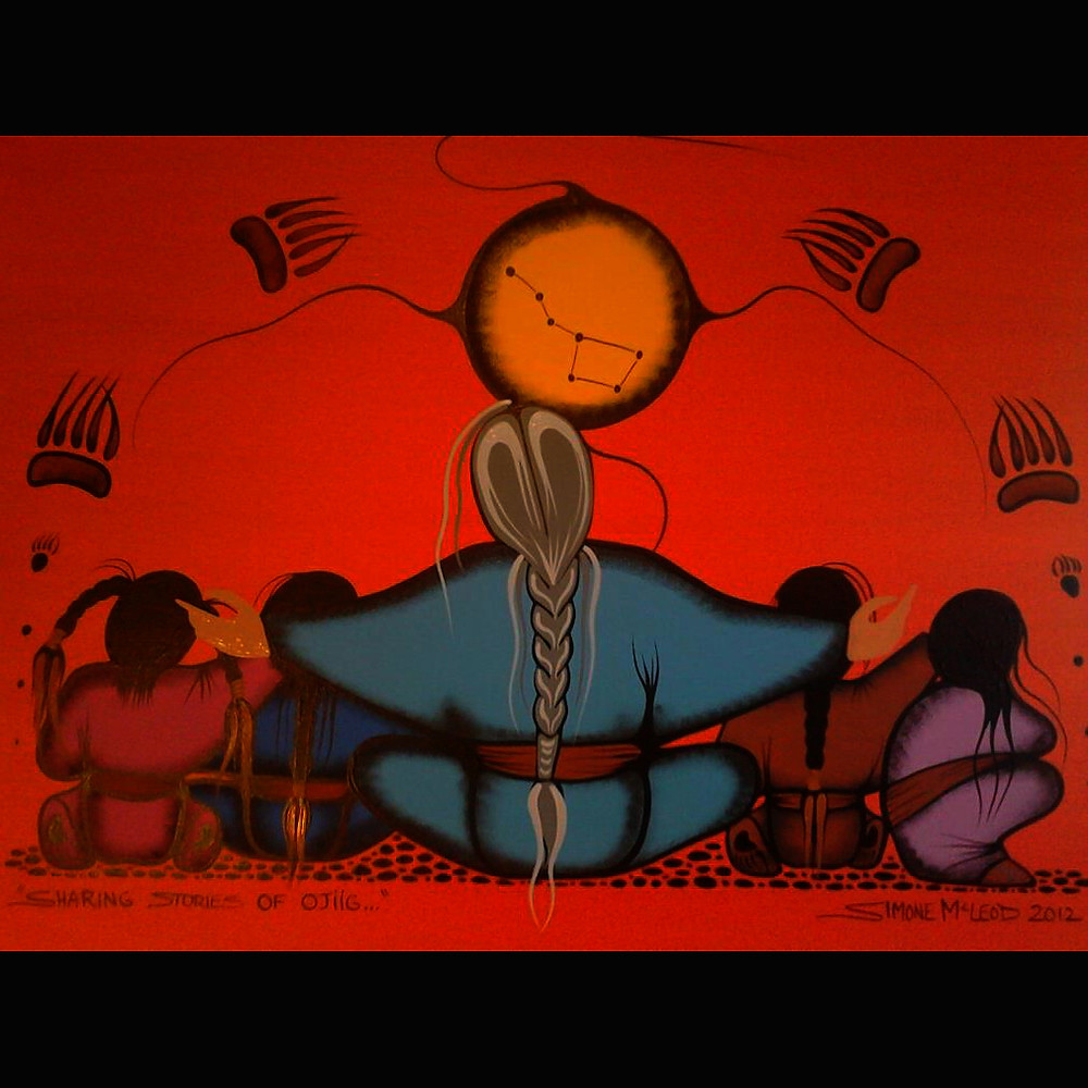 Sharing Stories of Ojiig by Simone McLeod
