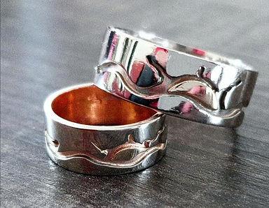 Sun Lake white gold wedding rings 900.jp