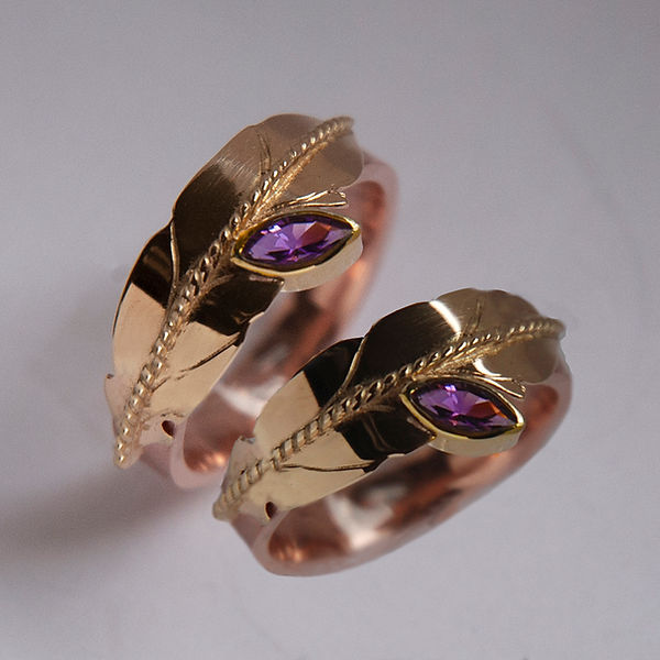 Two-Spirit wedding rings Migizi Vision 9