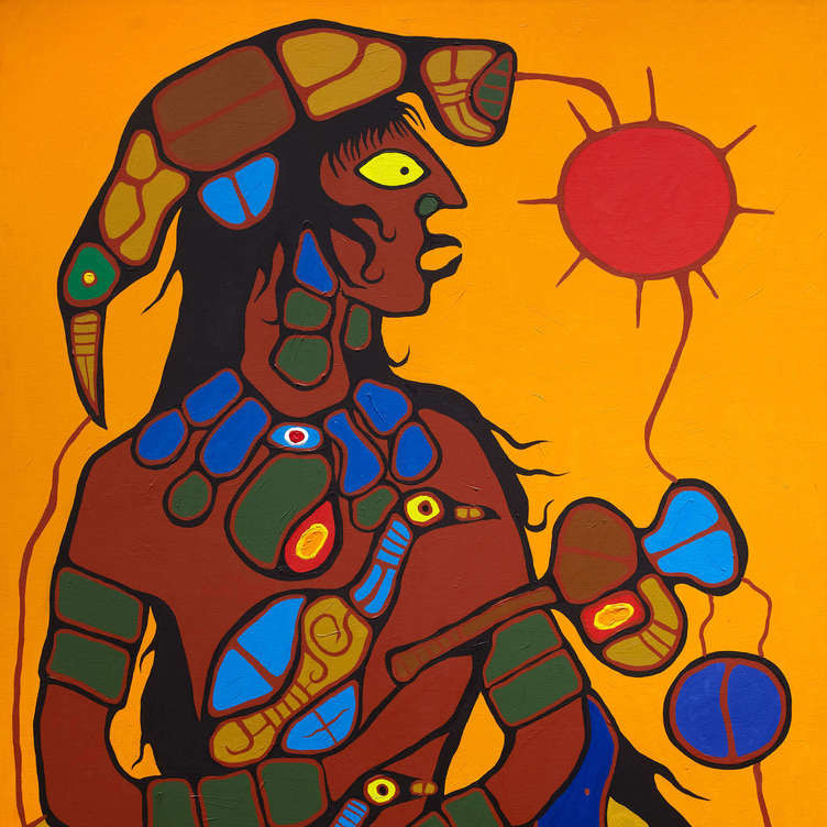Norval Morrisseau Man Changing into Thunderbird