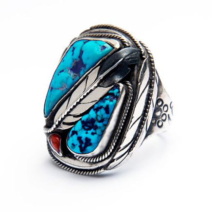 Edawi-giizhig-silver-and turquoise-ring-