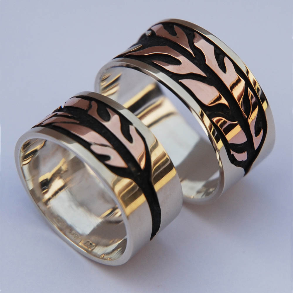 Migizi's Dream Ojibwe wedding bands