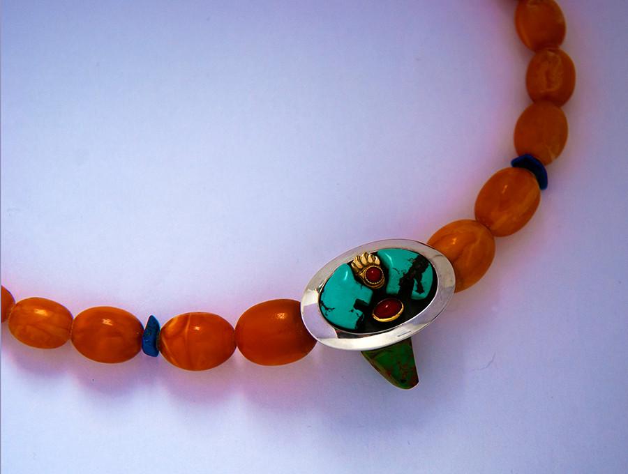 Bimose-makomiikanakwe She Walks the Bear Path necklace