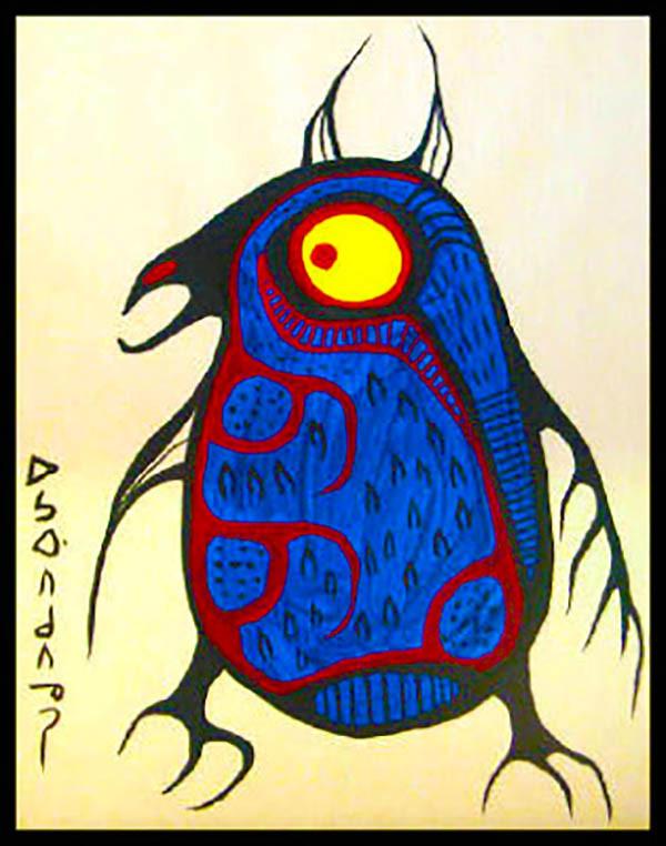 Horned Owl Miskwaabik Animikii