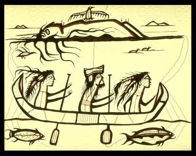 Nibaad Misaabe nibaa-dibik The Silver Curse Norval Morrisseau