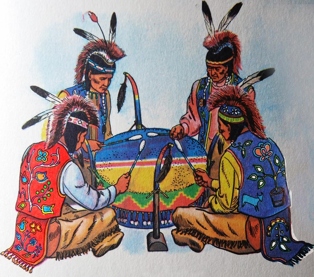 Anishinaabe drummers