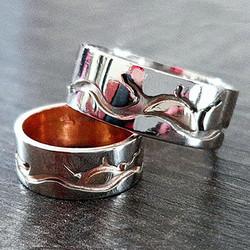 Wedding rings Spirit of the Lake