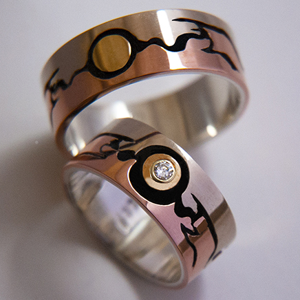 Thunderbird Medicine wedding rings