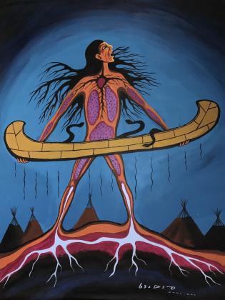 Carl Ray Serpent canoe