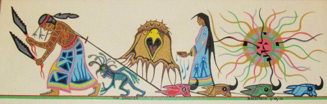 Sun Dance Buffalo Skull draggers