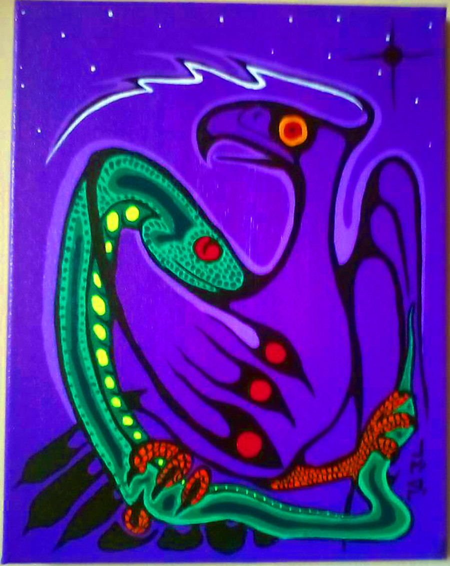 Thunderbird and Serpent Carl Ray