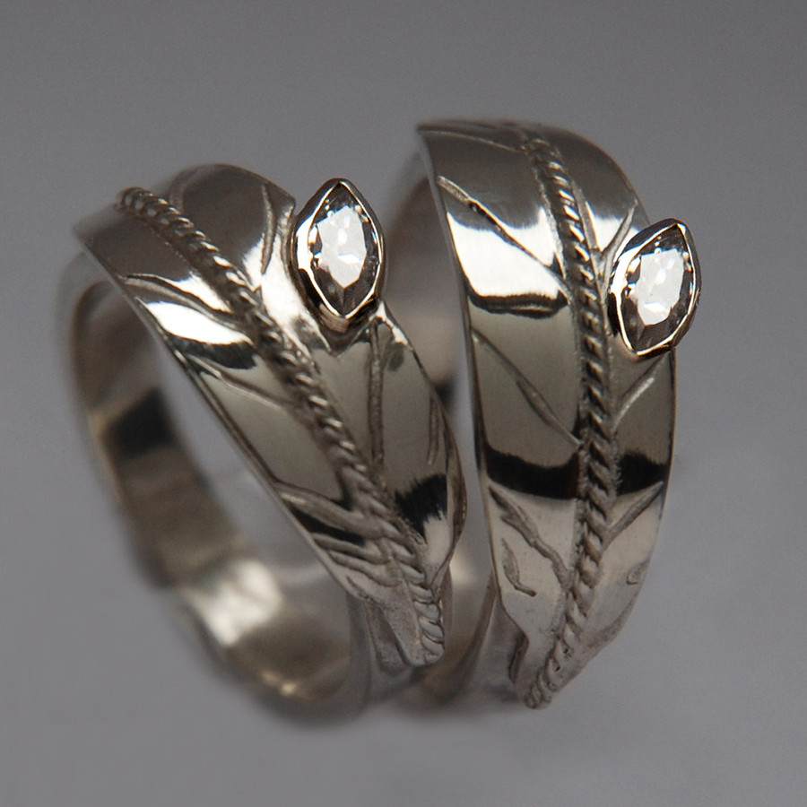 Two-Spirit eagle feather wedding rings Two Feathers, One Spirit