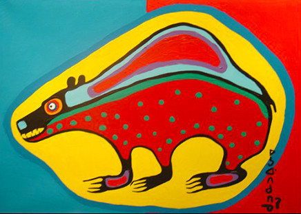 Norval Morriseau Magic Bear Zhaawano Giizhik blog