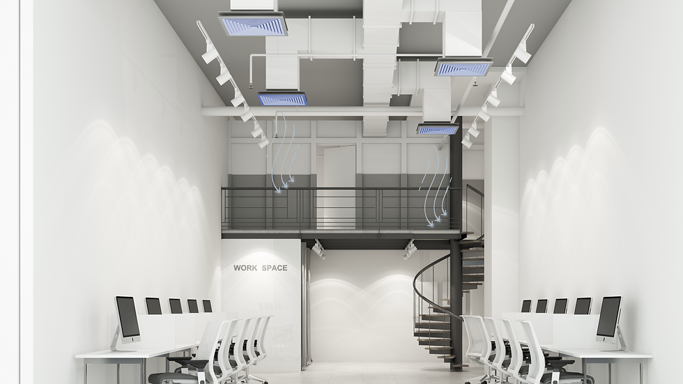 wokring-space-modern-office-room-with-white-gray-tone-concrete-floor-air-duct-loft-style-3