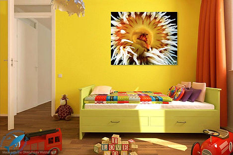 colorful underwater art for the kids room