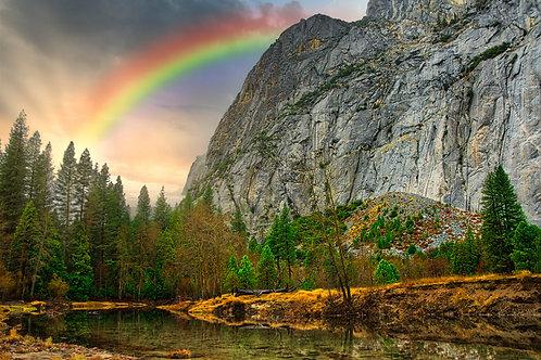 Sentinel Beach with Rainbow Fine Art Landscape Print