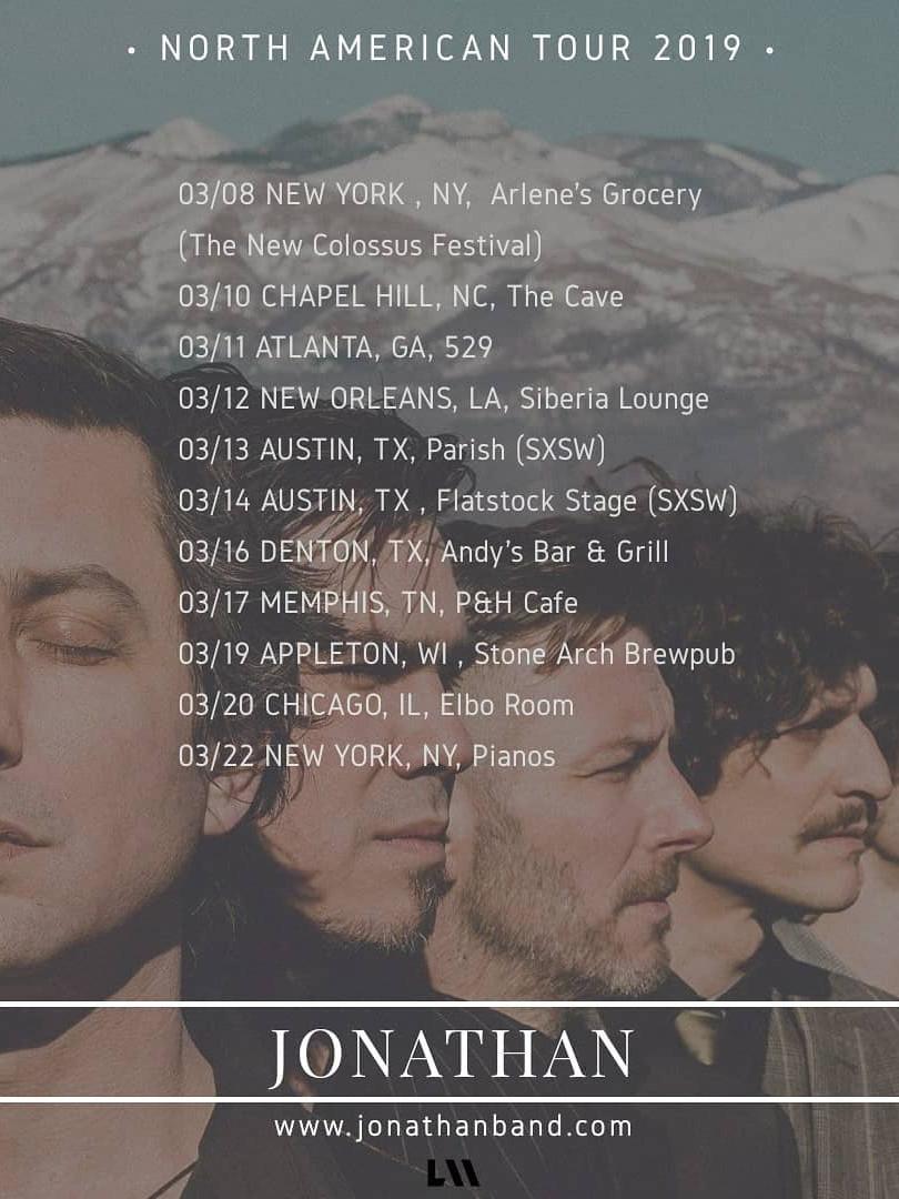 Jonathan - North American Tour 2019