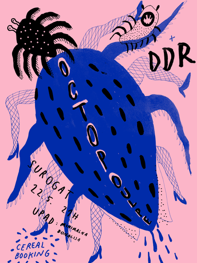 Octopoulpe w DDR gig poster